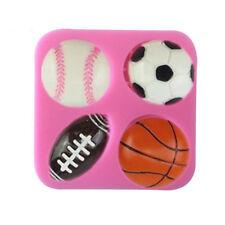 1pcs Silicone Football Shape Decoration Fondant Sugar Bow Craft Molds DIY Cake