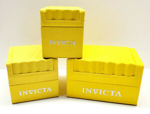 Invicta Watch Box Case Yellow Wave EMPTY BOX ONLY Display Presentation Store