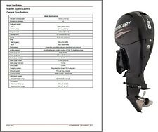 2011-2015 Mercury 150 EFI FourStroke Outboard Motor Service Repair Manual CD