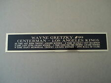Wayne Gretzky Kings Engraved Nameplate For A Hockey Stick Display Case 1.25 X 6