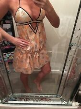 Sass And Bide Beach Dress Cover Up Tunic Summer Size 8/10 Fab Cotton Coral