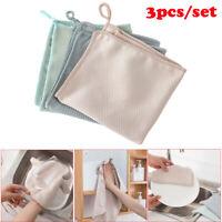 3PCS/Set Windows Glass Clean Cleaning Cloth Rag Microfiber Towels Washing Towel
