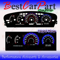 Blue//Black Glow Gauge Face Overlay For 2011-2015 Chevy Cruze V2 Racing Style