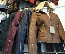 Women Faux leather Jacket coat Wine,Black,Navy Camel zip S,M,L CI sono Cavalini