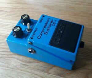 Boss CS1 Japan 1981 Compression Sustainer guitar effect pedal Black Label MIJ
