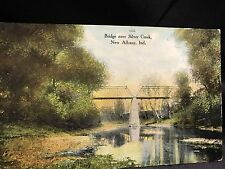 1910s Bridge Over Silver Creek New Albany Indiana Postcard