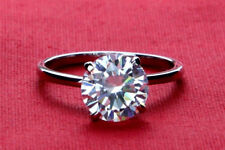 2.00 Ct Solitaire Diamond Engagement Ring Round Cut 14K White Gold Size M N O