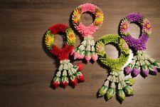 (Thai Malai) Flower garland (Plastic-Highgrade color) Antique style Handmade