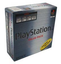 Ps1/Sony Playstation 1-Console SCPH - 5552b + 2 CONTRÔLEUR + Zub. avec neuf dans sa boîte