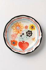 New Anthropologie Coeur Rouge Dinner Plate Francophile by Nathalie Lete Floral