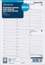 Filofax A5 Multifit 2019 Kalender Einlage 1Woche/2Seiten vertikal DEU 19-68540