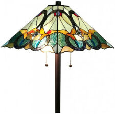 Tiffany Style Multicolored Floor Lamp 63 in. Stained Glass Handcrafted Lighting