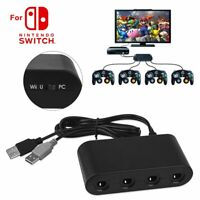 4 Port Gamecube Universal NGC Controller Adapter for Nintendo Wii Switch PC