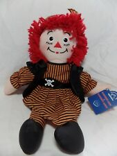 "NEW 2002 Raggedy Ann Halloween Pirate Costume Doll - 15"" Applause Hasbro Doll"