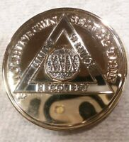 29 YEAR AA GOLD/SILVER Tone Bi-Plated Alcoholics Anonymous CHIP COIN MEDALLION