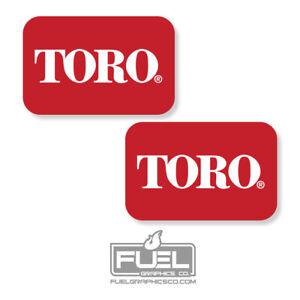 """TORO Logo Vinyl Decal/Sticker 2-Pack - Zero Turn & Walk Behind Mowers - 6"""" x 4"""""""