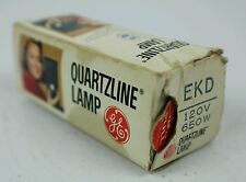 GE  EKD  120V  650W  Quartzline  Projector  Lamp  CG 71-B2