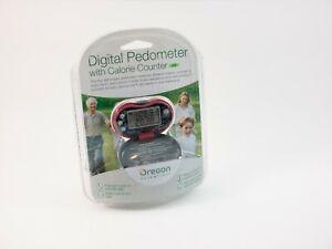 Oregon Scientific Digital Pedometer with Calorie Counter Red Open Box