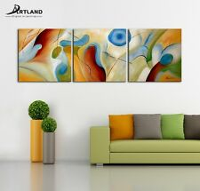 Large Abstract Oil Painting 3-Piece100% Handpaint Canvas Art Set 24x72'' (Frame)