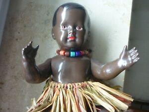 farbige Babypuppe von Cellba, D.R.P.,  v. ca. 1928, 25 cm