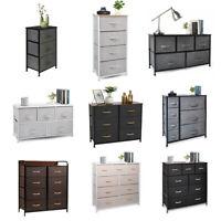Chest of Fabric Drawers Dresser 3/4/5/6/7/8/9 Bins Bedroom Storage Organizer