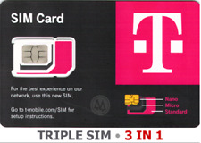 """T-Mobile Triple Sim Card R15 """"3 in 1"""" Nano • 4G 5G Lte • New • Use By June 2024"""