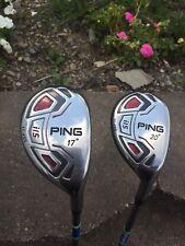 RH Ping i-15 Hybrid Set 3,4, 17',20' Stiff Utility Golf Club fairway driver Iron