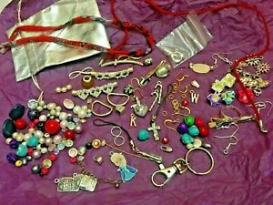 HK3 Lot Bundle Jewellery Craft Items Charms Beads Earrings crystal ring Findings