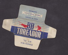 Etiquette de lame de rasoir Norvège   BN21231 Matador Toréador