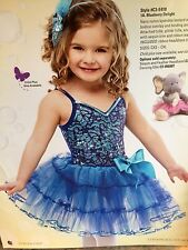IN STOCK Blueberry Sequin Pageant Character Ballet Tutu Dance Costume Child Sml