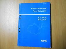 Teile Katalog parts catalogue Reservdelskatalog Volvo Penta AQ 190 A AQ 240 A