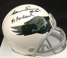 Norm Snead Philadelphia Eagles Mini Helmet With 4 Time Pro Bowl Inscription Rare