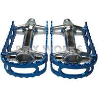 """MKS BM-7 Pedals 1/2"""" Dark Blue - Old School Vintage BMX - Mongoose Redline etc"""