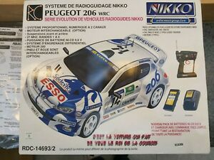 Nikko Peugeot 206 WRC remote control RC car MINT used once