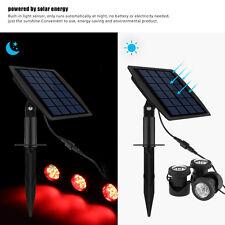 Lampada a LED energia solare luce con 3 FARETTO RGB PANNELLO sott 'acqua stagno