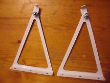 Pair of white Rotating Brackets.