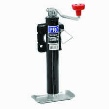 """PRO SERIES ROUND TRAILER JACK 2000 lbs WELD ON TOPWIND SNAP-RING SWIVEL 10"""" LIFT"""