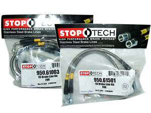 StopTech Stainless Steel Brake Line Kit F&R for 05-13 Ford Mustang with ABS Only