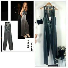 Bae primark glamour sexy grey jumpsuit velvet strechy size 18
