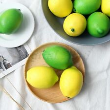 6X Artificial Lemons Simulation Fruits Photography Display Party Home Decoration