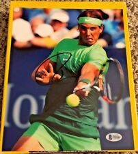 RAFAEL NADAL SIGNED 8X10 TENNIS PHOTO AUTOGRAPHED BECKETT CERTIFIED