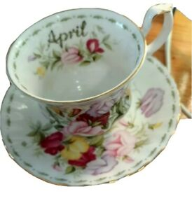 Royal Albert April  Flower Of The Month Duo   England / Mint
