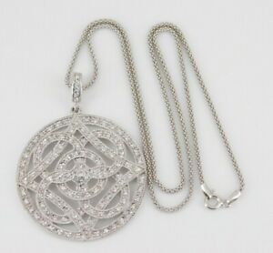 """925 Sterling Silver CZ Necklace 18"""" Long"""