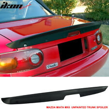 For 90-97 Mazda Miata MX5 MK1 Unpainted NA KG Works Style ABS Trunk Spoiler Wing