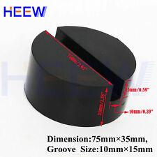 GENUINE HYDRAULIC JACK PAD D70mm X H20mm 2 SLOTS OIL /& PETROL RESISTANT RUBBER