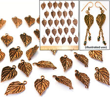 """1"""" Copper Pl Brass Bali Style LEAF CONNECTOR Pendant Beads Findings 2-Hole 30pc"""