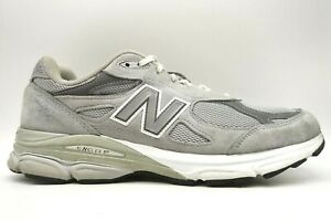 New Balance 990 V3 Gray Leather Mesh Lace Up Athletic Sneakers Shoes Men's 12 D