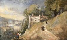 William George Jennings, Italianate Landscape with Figures – c.1820s watercolour