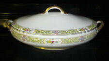 Vintage Noritake Japan Fine China Vegatable Compote Bowl w/ Lid Floral Serving
