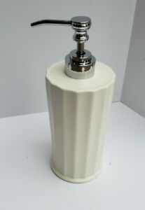 WHITE CERAMIC LOTION SOAP DISPENSER